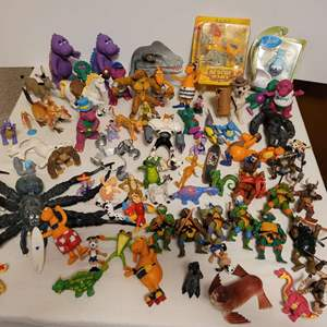 Lot #150 - Monsters Galore: Spider, Dinosaurs, Barney;s Friends, Teenage Mutant Ninjas, Animals and More