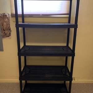 Lot #153 -  Black 5 Tier Medium Duty Plastic Storage Rack