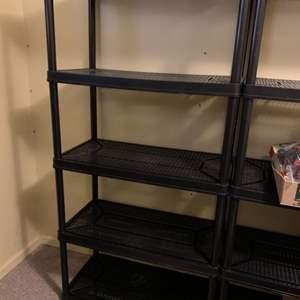 Lot #155 - Another Black 5 Tier Medium Duty Plastic Storage Rack