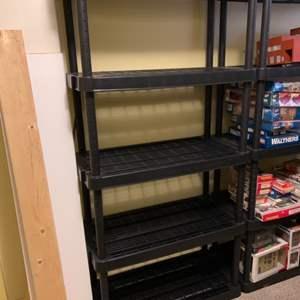 Lot #156 - Another Black 5 Tier Medium Duty Plastic Storage Rack