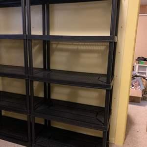 Lot #157 - One More Black 5 Tier Medium Duty Plastic Storage Rack