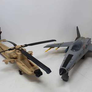 Lot #167 - Vintage 1980's Hasbro G.I. Joe Helicopter and Conquest X-30