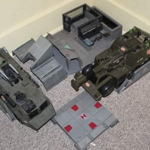 Lot #169 - Hasbro G.I. JOE U.S. Military Vehicles and Stands