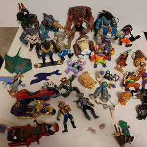 Lot #171 - 1990's Mattell Street Sharks, 1990's Choppers, Cyborgs and More