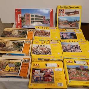 Lot #178 - Vintage Carnival Kits: Megadancer, Tornado, Spider and Con-Cor Structure Kits
