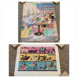 Lot #193 -  Pair of Posters, Minnie Mouse and Daisy Duck in Diner & Disney Poster of Circus