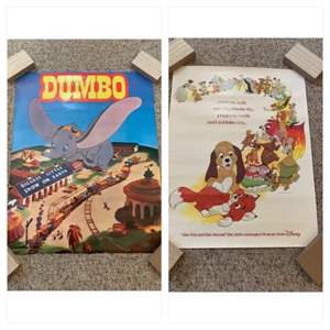Lot #195 - Disney Posters: Dumbo and The Fox and the Hound 20th Feature Film