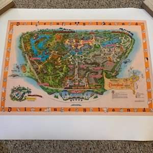 Lot #196 - Disneyland USA  Layout Poster