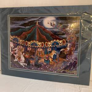 """Lot #198 - """"Midnight Flight"""" Signed and Numbered Print by Markus Willis"""