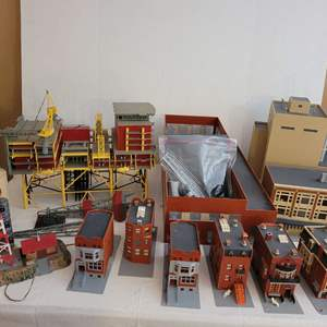 Lot #203 - Revell North Sea Oil Rig, Life-Like Tracking Station and Other Structures Already Assembled