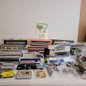 Lot #209 - Vintage Boxed HO Scale Kits, Vintage Vehicles, Train Cars, Civil War Figures, Motors and Accessories & Parts