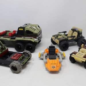 Lot #211 -  Hasbro G.I. Joe BTR Sets Compatible with Lego and Mega Blocks, Rock Crusher, BTR 0-53 Jeep, & More