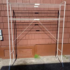 Lot #215 -  Wire Shelving Unit with 2 Shelves