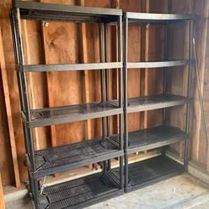 Lot #221 -  Set of Two Adjustable Storage Shelves