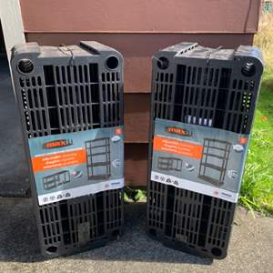 Lot #223 -  Set of 2 Max It Adjustable Storage Shelves with 5 Shelves Medium Duty