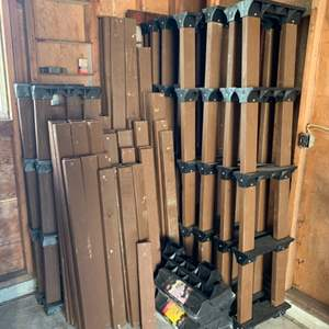 Lot #225 -  Shelf Links Storage System - Large Group of Links and 2 x 4's