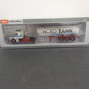 Lot # 174 - WSI 06-1077 Scania 3 Torpedo-Tank Tractor Trailer * Nord Tank * 1:50