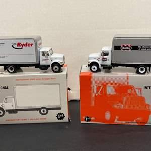 Lot# 3 - 2 Qty First Gear International 4900 Series Straight Trucks *59-0180 Ryder * 59-0170 1:54 Scale
