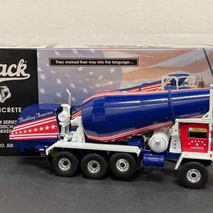 Lot# 19 - First Gear 19-2878 Mack Concrete Front Discharge  Mixer 1:34 Scale