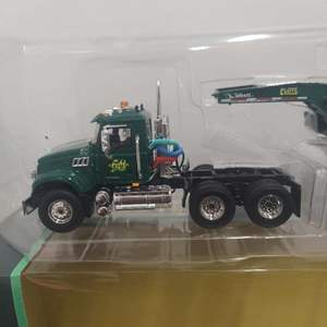 Lot# 25 - First Gear 59-3269 Mack Granite with Tri-Axle Lowboy Trailer 1:50