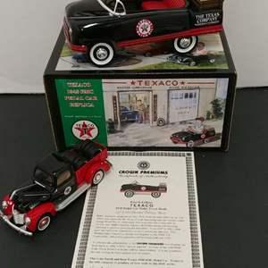 Lot# 33 - 2 Qty. Texaco Die Cast * Crown Premiums #48BMCSB11 1948 BCM Pedal Car * Texaco # K-94598 '40 Ford Truck * 1:32