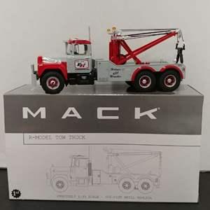 Lot# 63 - First Gear # 19-2860 Mack R-Model Tow Truck * Ernest Holmes * 1:34