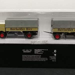Lot# 65 - Minichamps #499 073920 Tractor Trailer * Herforder Bier * 1:43