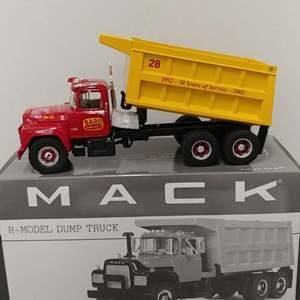 Lot# 68 - First Gear #19-2936 Mack R-Model Dump Truck * Bard Concrete 1:34