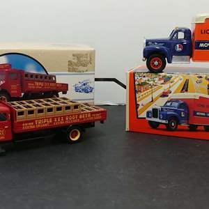 Lot# 69 - 2 Qty. Corgi # 525031 Mack B Series Van * Lionel City Ex.* 1:50 * # 98459 White Soda Truck * Triple XXX * 1:50