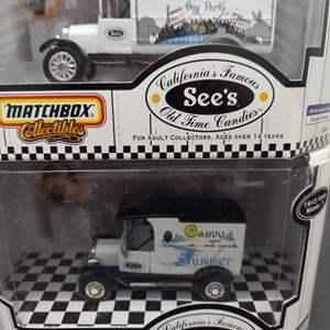 Lot# 83 - Qty 2 Matchbox See's Candy Trucks * 92294 1926 Ford Model T * 92093 1912 Ford Model T