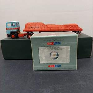 Lot# 88 -  Corgi 23301 Pollock of Musselburgh Ford Transcontinental Platform Trailer with Sheeted Load 1:50 Scale