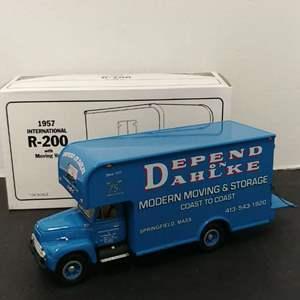 Lot# 108 - First Gear #18-1487 '57 International R-200 w/Moving Van * Dahlke's Moving & Storage * 1:34