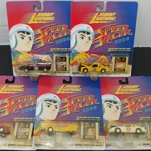 Lot# 116 - 5 Qty. Johnny Lightning Speed Racer 2000 Sealed in Package