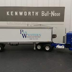Lot# 138 - First Gear # 19-2817 '53 Kenworth Bull Nose Tractor w/39' Trailer * Pan Western * 1:34
