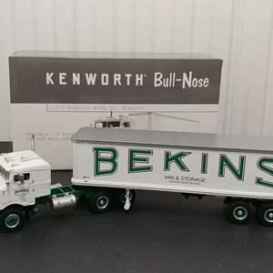 Lot# 145 - First Gear # 18-2026 Kenworth '53 Tractor w/ 35' Trailer * Bekins * 1:34