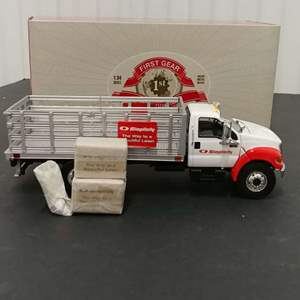 Lot# 146 - First Gear # 19-3767 Ford F 650 Stake Truck * Simplicity * 1:34