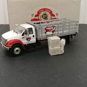 Lot# 147 -  First Gear # 19-3776 Ford F 650 Stake Truck * Ferris * 1:34