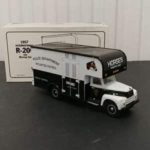 Lot# 167 - First Gear # 19-1384 '57 International R-200 w/Moving Van * Police Mounted Patrol * 1:34