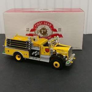 Lot# 169 - First Gear #19-3674 '76 Kenworth Fire Truck * Smokey Bear * 1:34