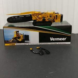 Lot# 174 - Vermeer #TWH086 T1255 Commander 3 Tractor w/ Hydrostatic Trenches Attachment