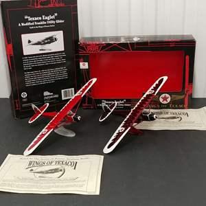 "Lot# 185 - 2 Qty. Ertl Wings of Texaco Bank # 20685 ""Texaco Eaglet"" Modified Utility Glider"