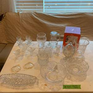 Lot# 47 - Assorted crystal and glassware