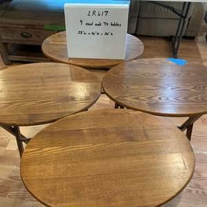 Lot# 56 - Oak TV tray tables