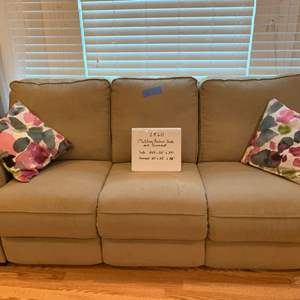 Lot# 66 - Motorized Reclining Couch and Loveseat / 6 years Old