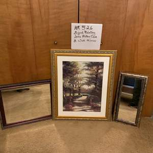 Lot# 102 - Painting and mirrors