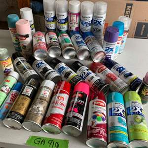 Lot# 125 - Assorted spray paint cans