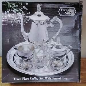 Lot #EL2 - New In Box Elegance in Silver Tea Set