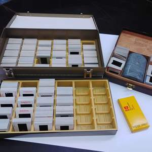 Lot #EL41 - Lots of Film Slides w Admiral Slide File Karry Kit & Light Viewer