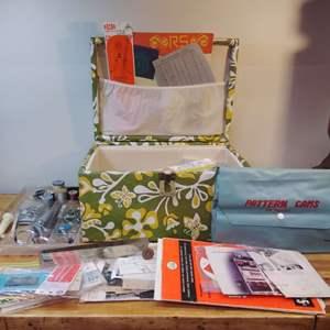 Lot #EL53 - Very Groovy Loaded Large Vintage Sewing Case