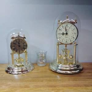 Lot #EL66 - Elgin Anniversary Clocks and Vases